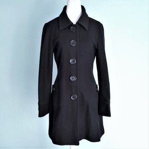 Anthro TULLE Fitted Wool Coat, sz L, runs small